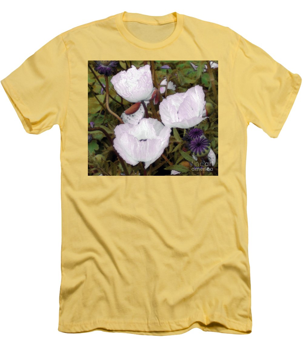 Blooms Men's T-Shirt (Athletic Fit) featuring the digital art Pearlblossoms by RC deWinter