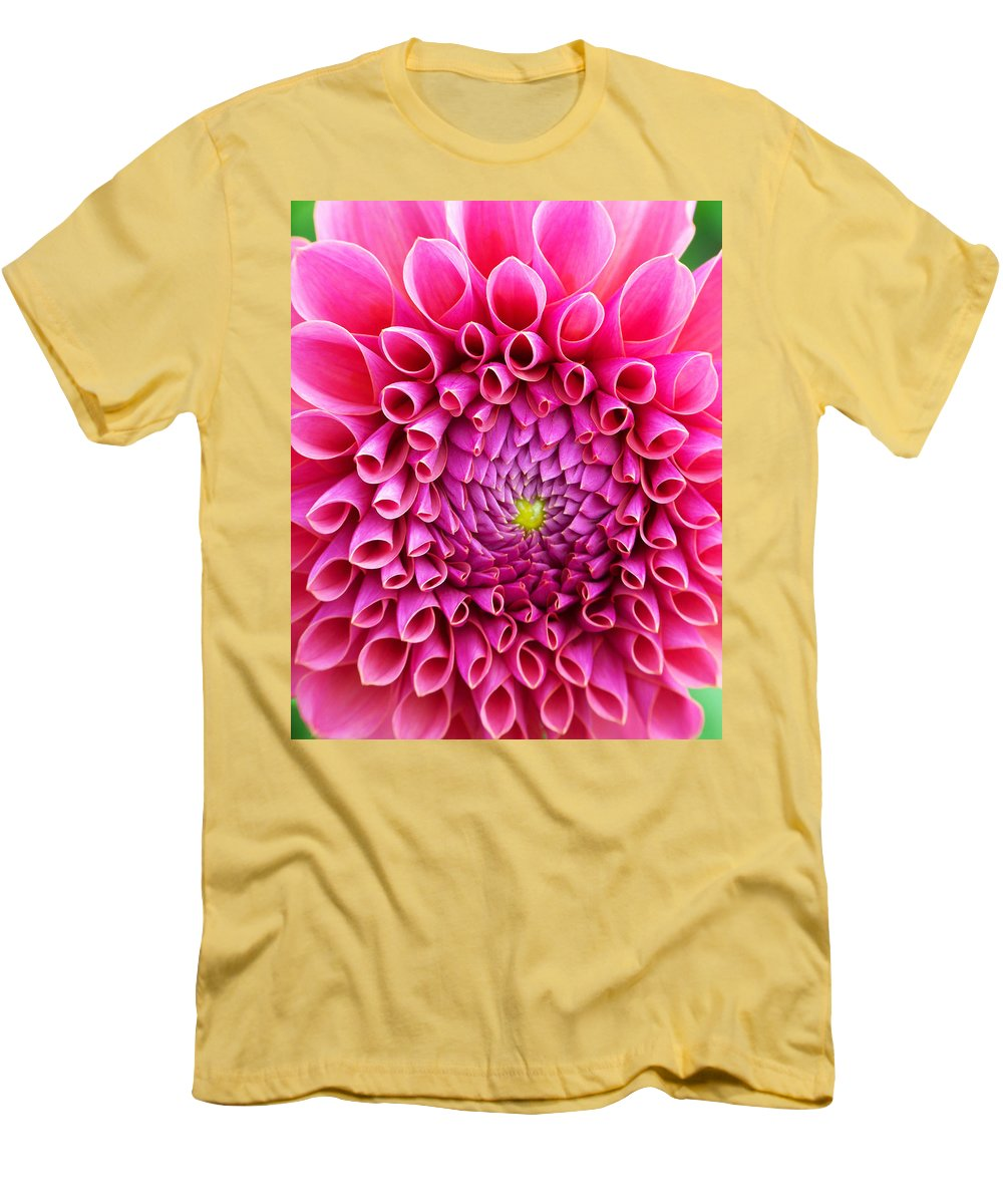 Flower Men's T-Shirt (Athletic Fit) featuring the photograph Pink Flower Close Up by Anthony Jones