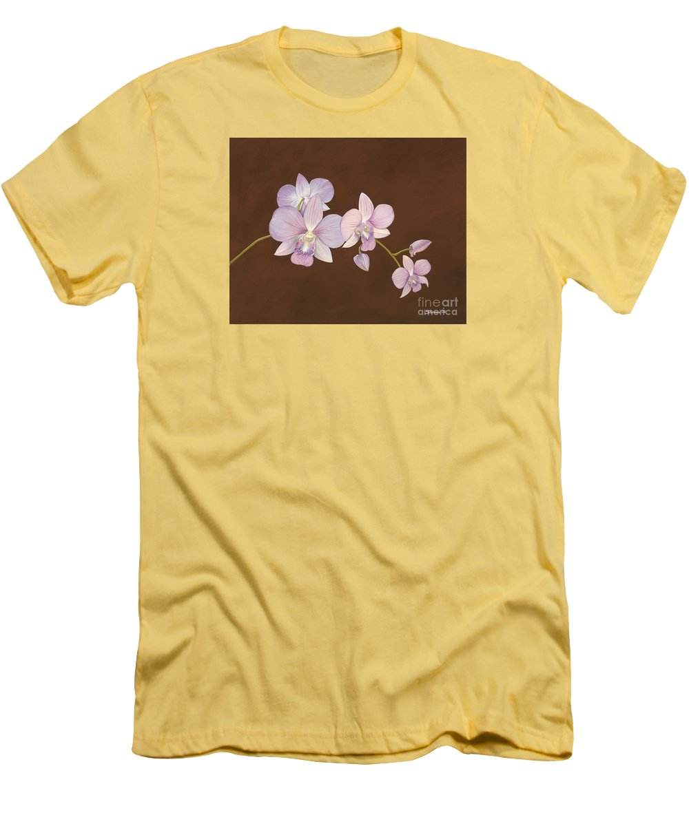 Orchid Men's T-Shirt (Athletic Fit) featuring the painting Pink Orchids by Shawn Stallings