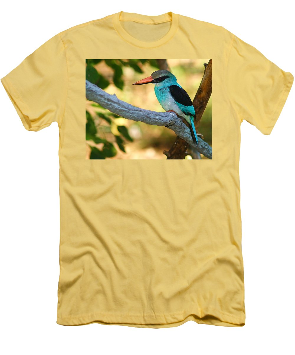 Kingfisher Men's T-Shirt (Athletic Fit) featuring the photograph Pretty Bird by Gaby Swanson