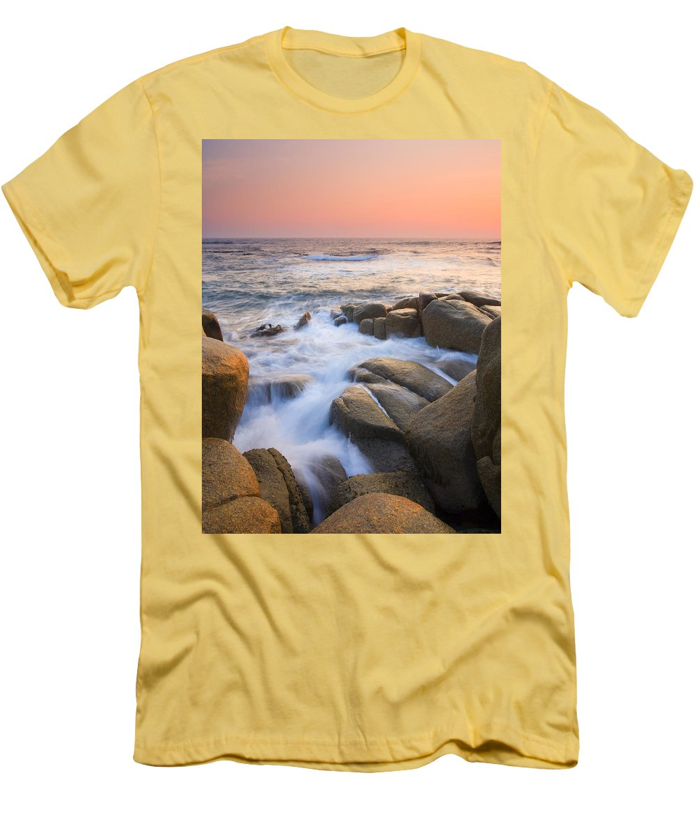 Sunrise Men's T-Shirt (Athletic Fit) featuring the photograph Red Sky At Morning by Mike Dawson