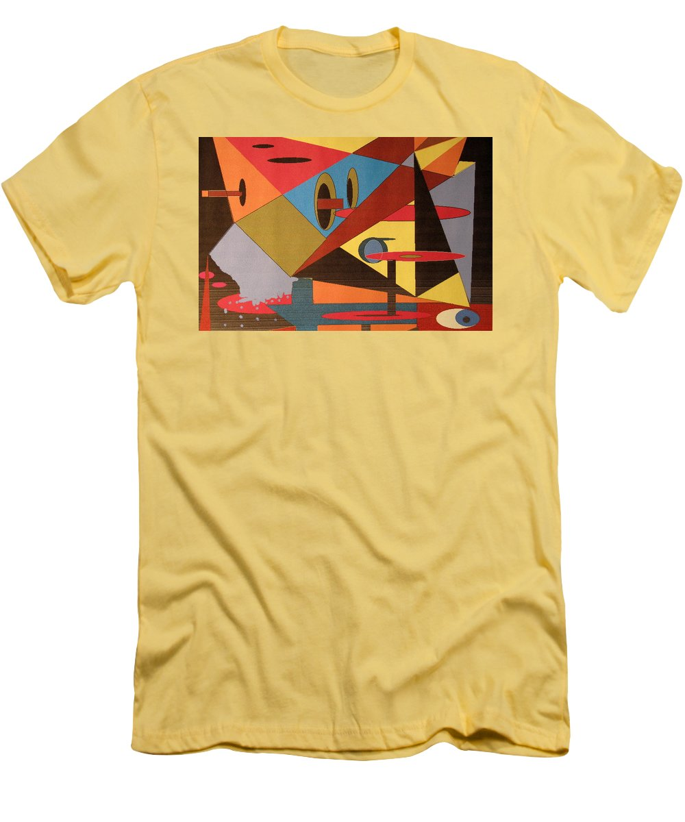 Abstract Men's T-Shirt (Athletic Fit) featuring the digital art Regret by Ian MacDonald