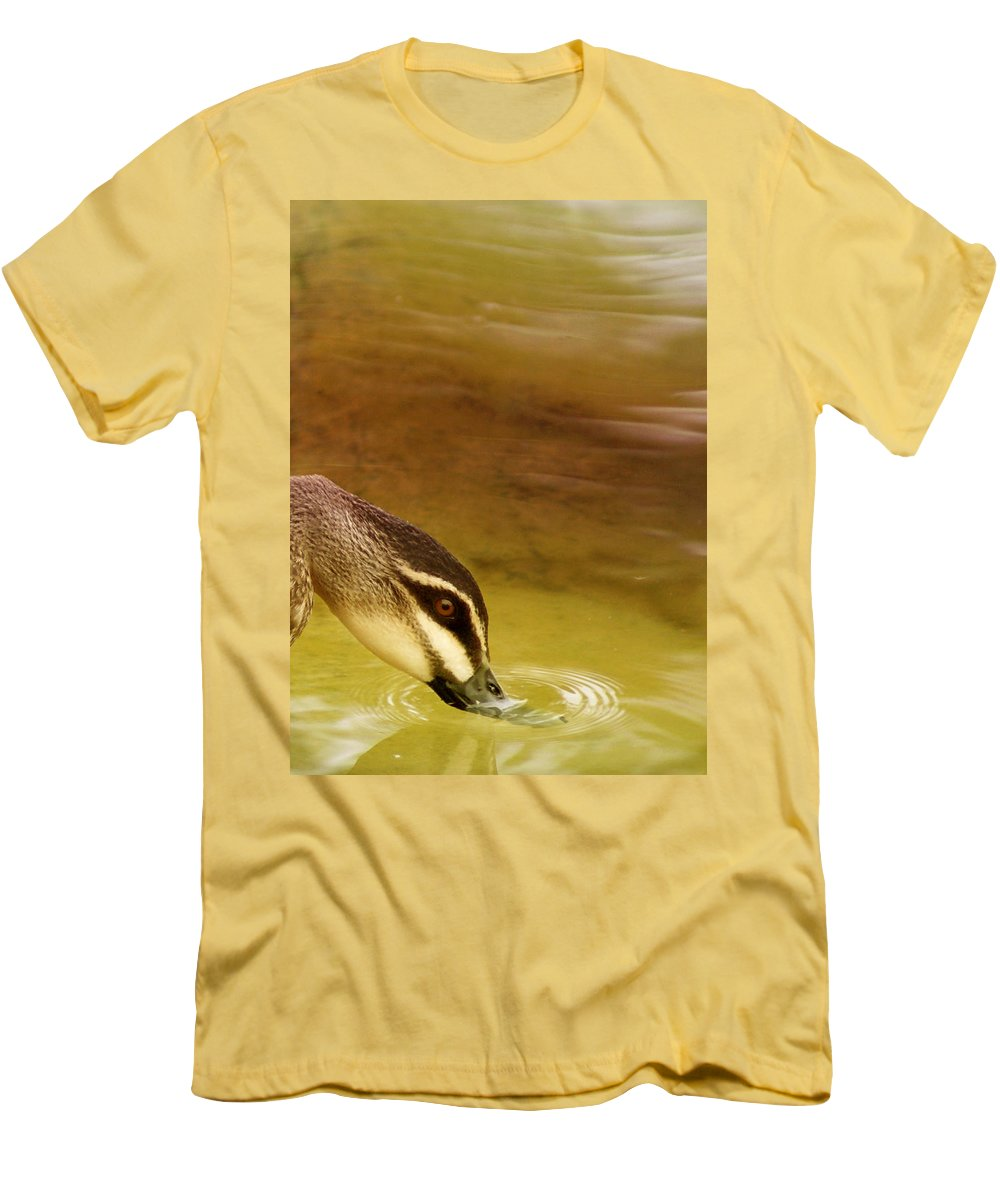 Animals Men's T-Shirt (Athletic Fit) featuring the photograph Ripples by Holly Kempe