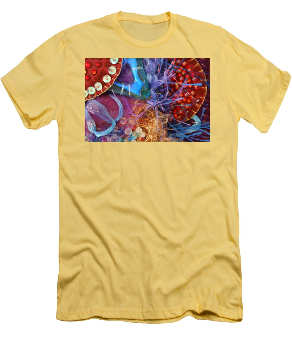 Men's T-Shirt (Athletic Fit) featuring the mixed media Ruby Slippers 6 by Judy Henninger