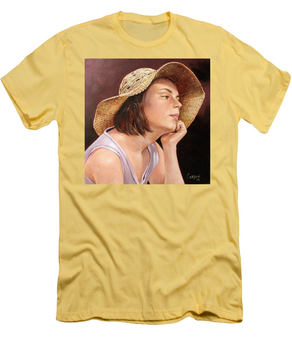 Portrait Men's T-Shirt (Athletic Fit) featuring the painting Sammie by Jerrold Carton