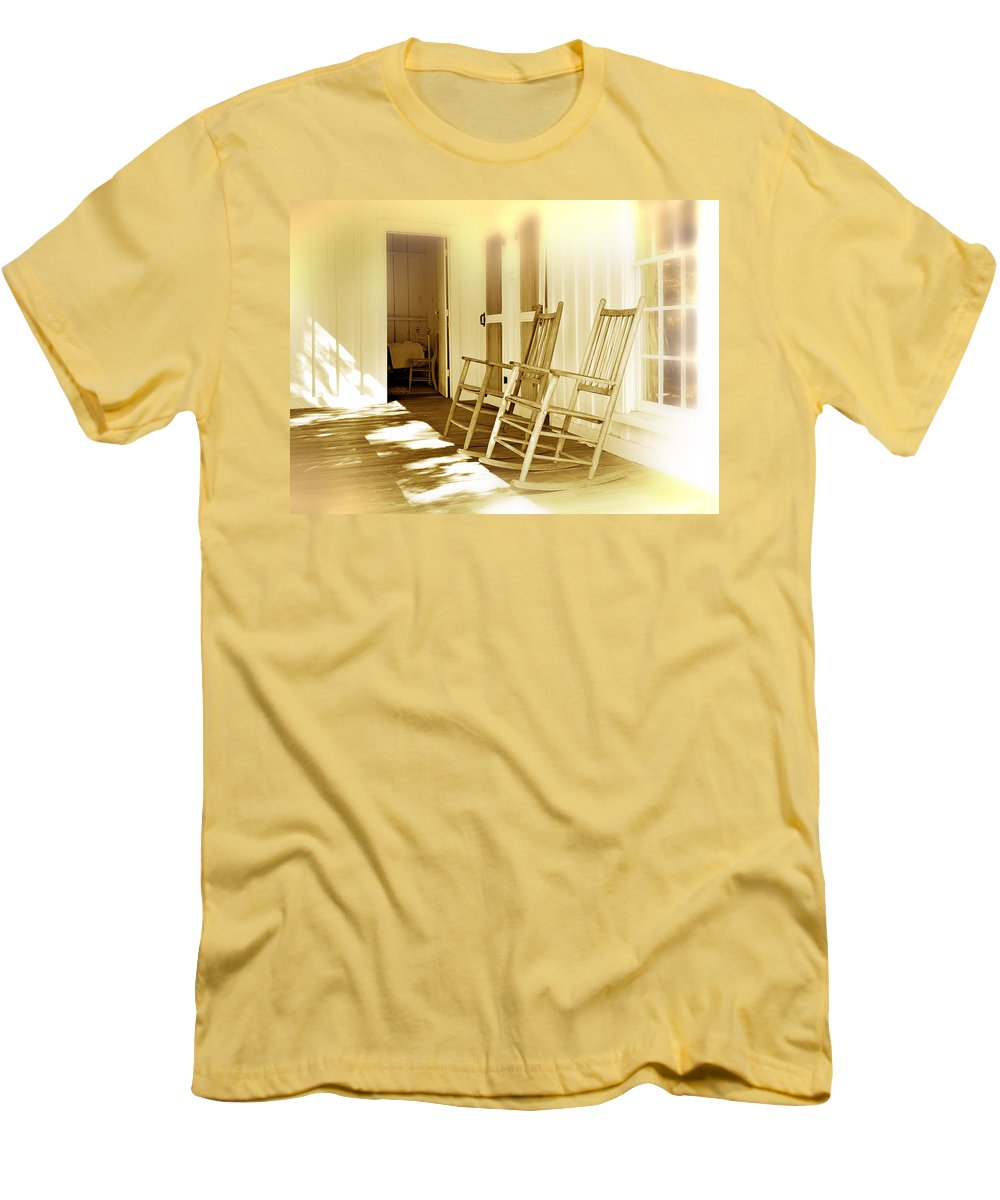 Porch Men's T-Shirt (Athletic Fit) featuring the photograph Shared Moments by Mal Bray