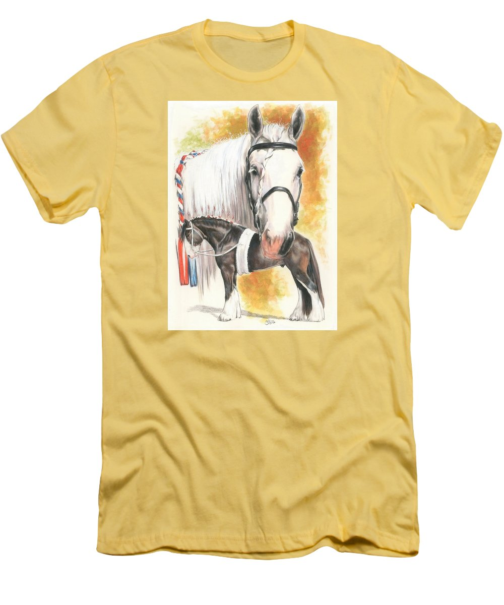 Shire Men's T-Shirt (Athletic Fit) featuring the mixed media Shire by Barbara Keith