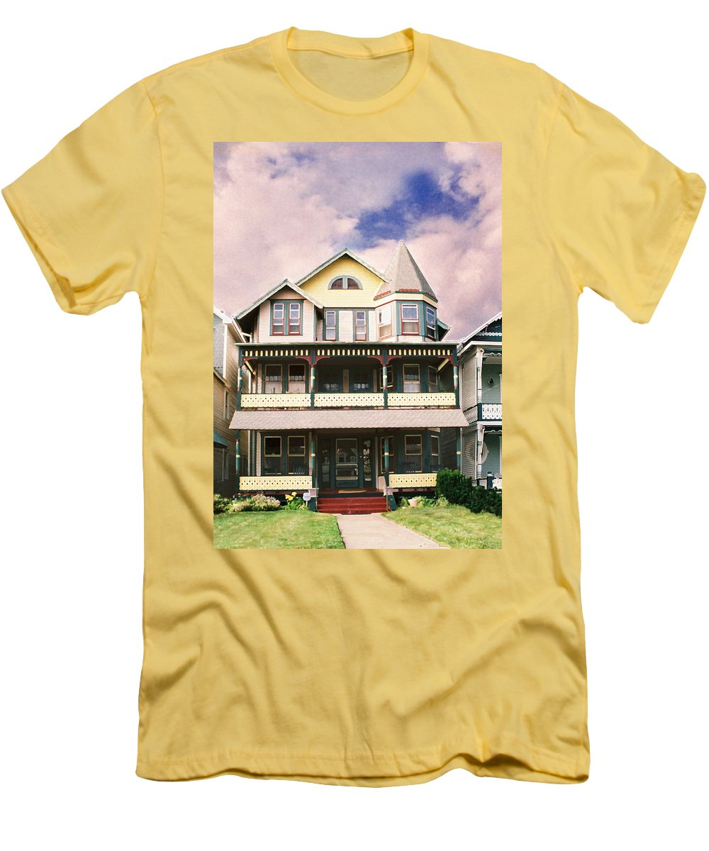 Landscape Men's T-Shirt (Athletic Fit) featuring the photograph Sisters Panel Three Of Triptych by Steve Karol