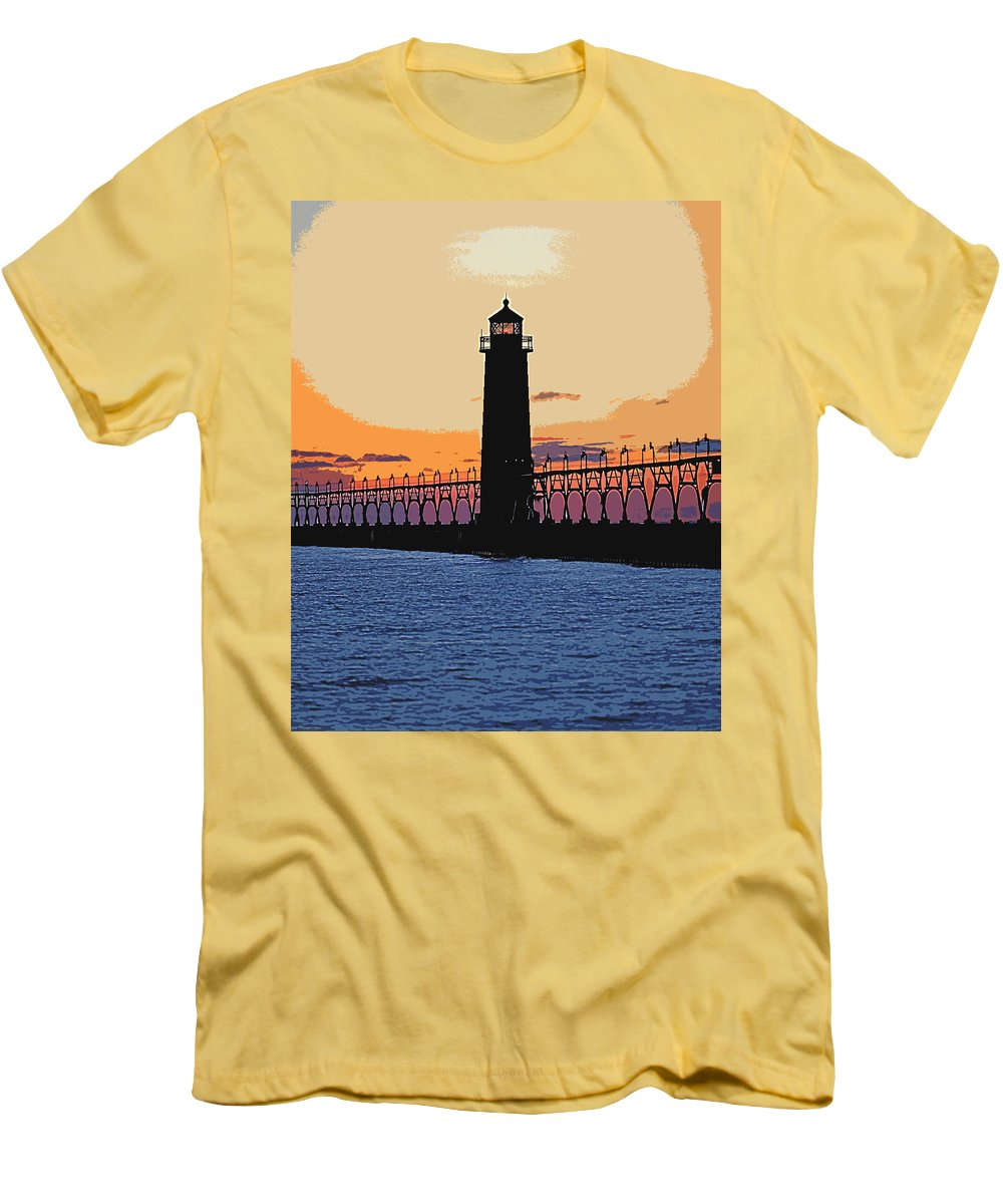 Light House Men's T-Shirt (Athletic Fit) featuring the photograph Standing Sure by Robert Pearson