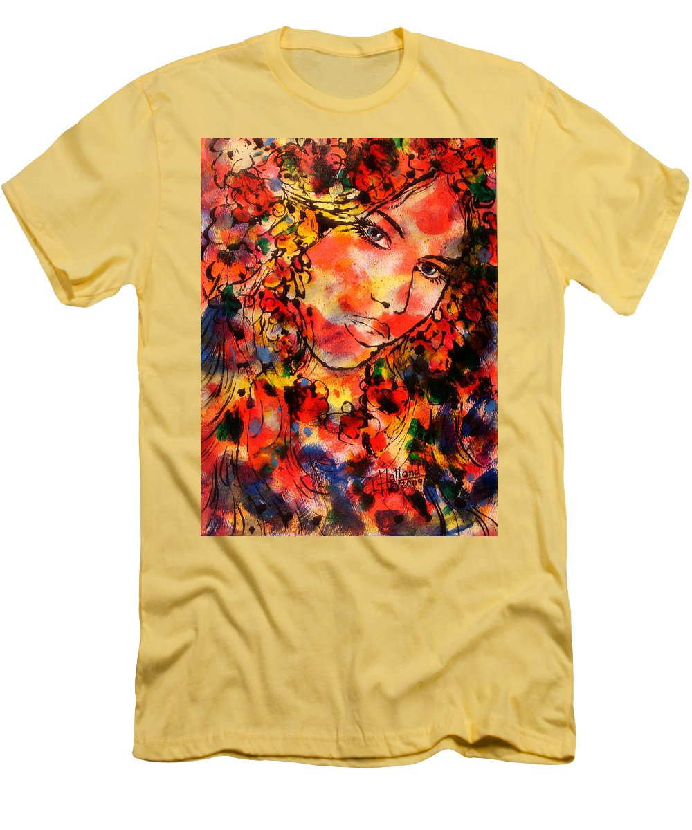 Impressionism Men's T-Shirt (Athletic Fit) featuring the painting Sweetheart by Leonard Holland