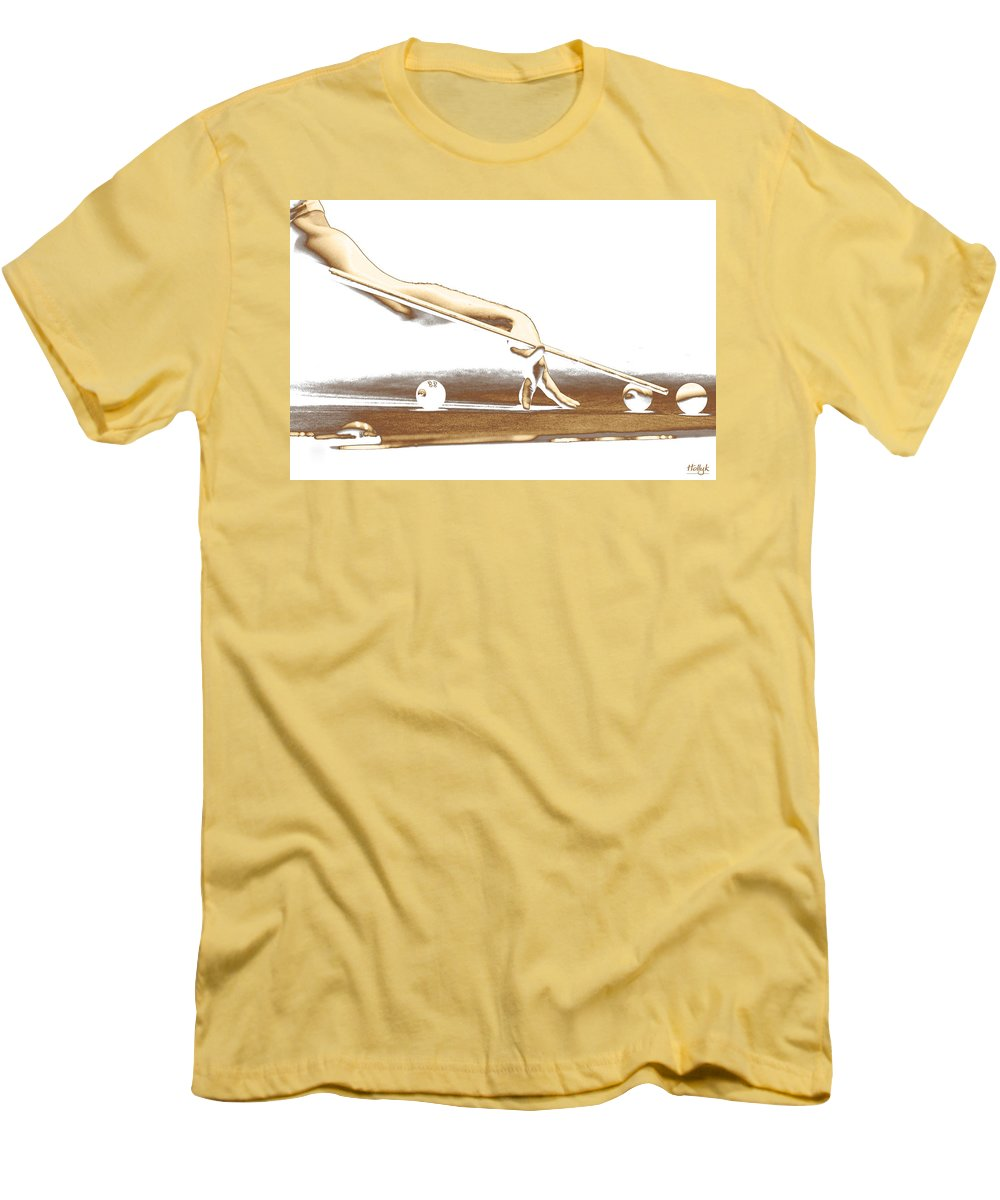 Abstract Men's T-Shirt (Athletic Fit) featuring the photograph The Hustler by Holly Kempe