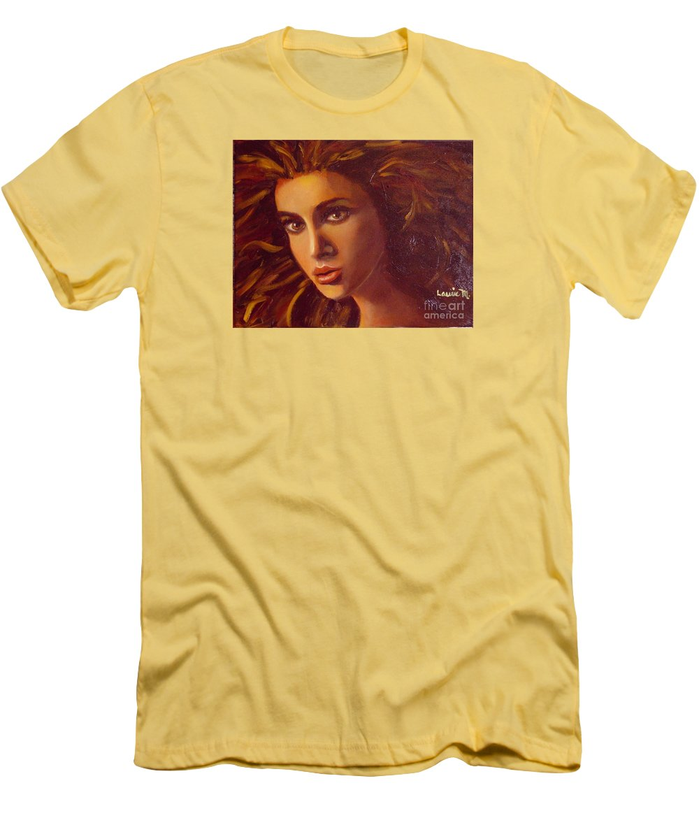 Portrait Men's T-Shirt (Athletic Fit) featuring the painting The Oracle by Laurie Morgan