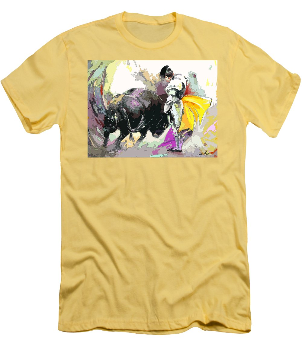 Animals Men's T-Shirt (Athletic Fit) featuring the painting Toroscape 39 by Miki De Goodaboom