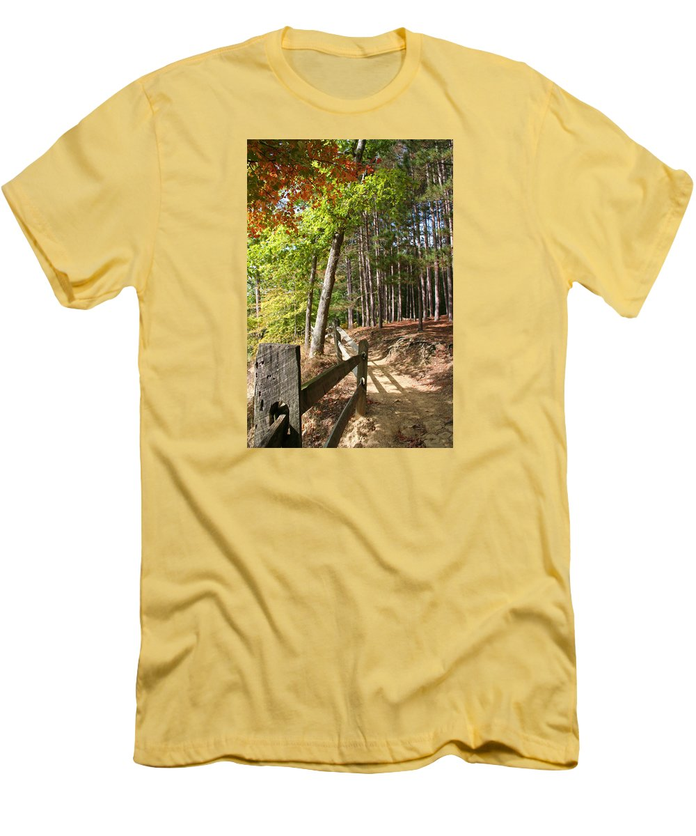 Tree Men's T-Shirt (Athletic Fit) featuring the photograph Tree Trail by Margie Wildblood