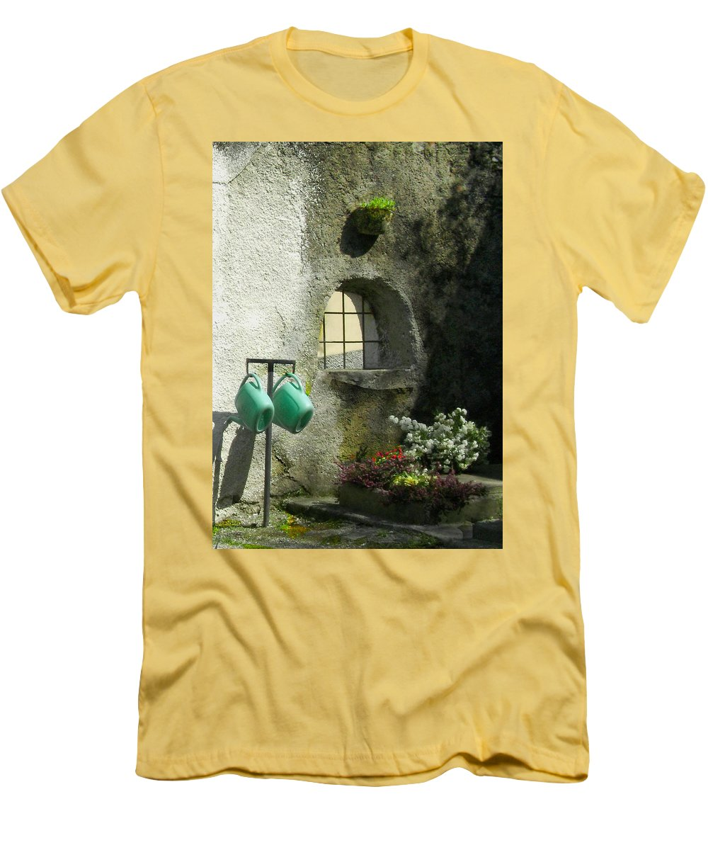 Italy Men's T-Shirt (Athletic Fit) featuring the photograph Tuscan Afternoon by Lynn Andrews