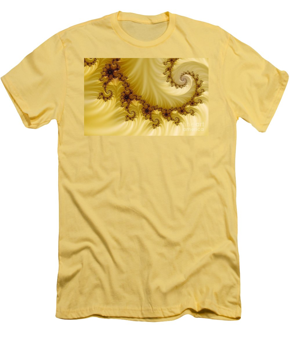 Clay Men's T-Shirt (Athletic Fit) featuring the digital art Valleys by Clayton Bruster