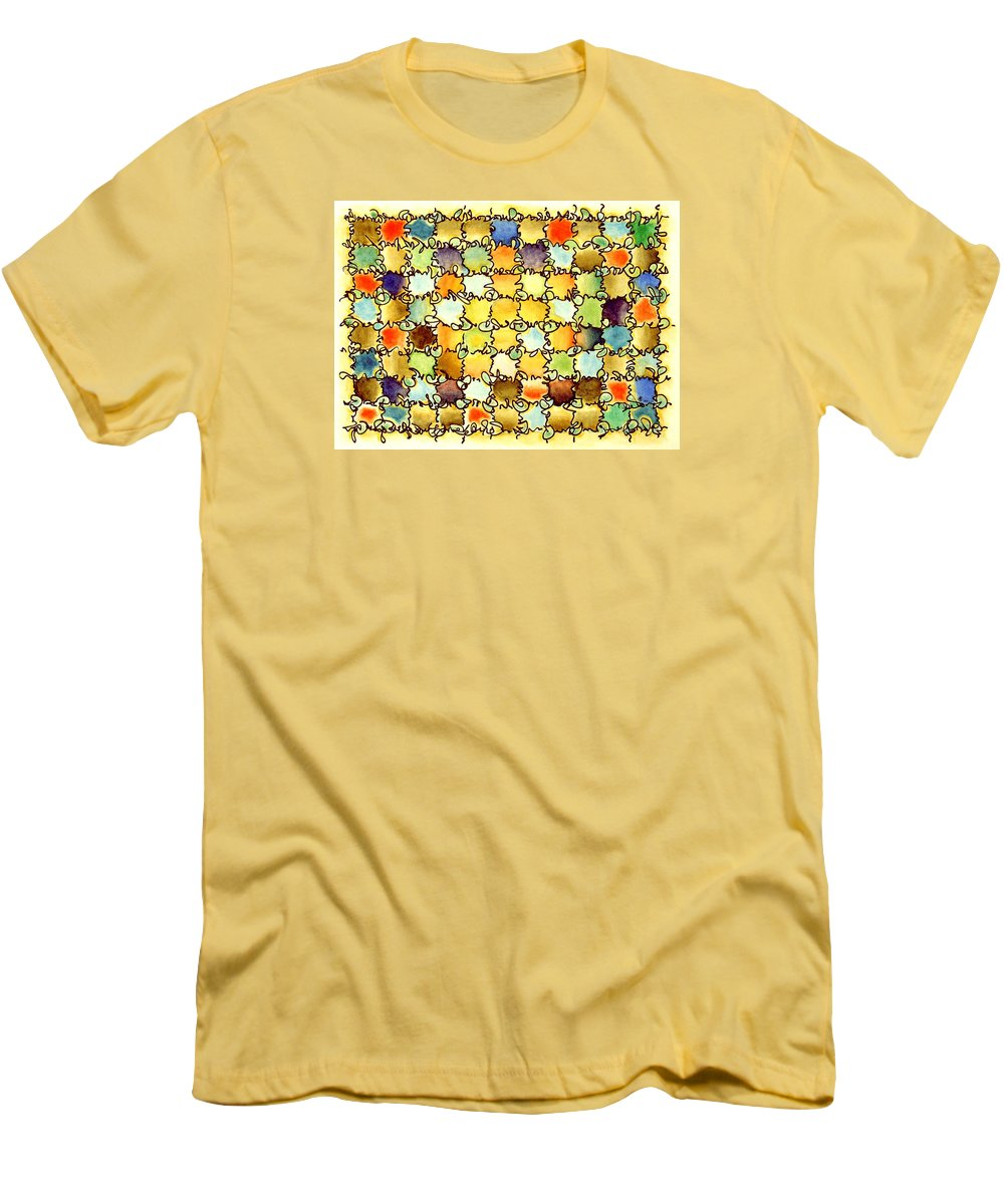 Abstract Men's T-Shirt (Athletic Fit) featuring the painting Warm Light by Dave Martsolf