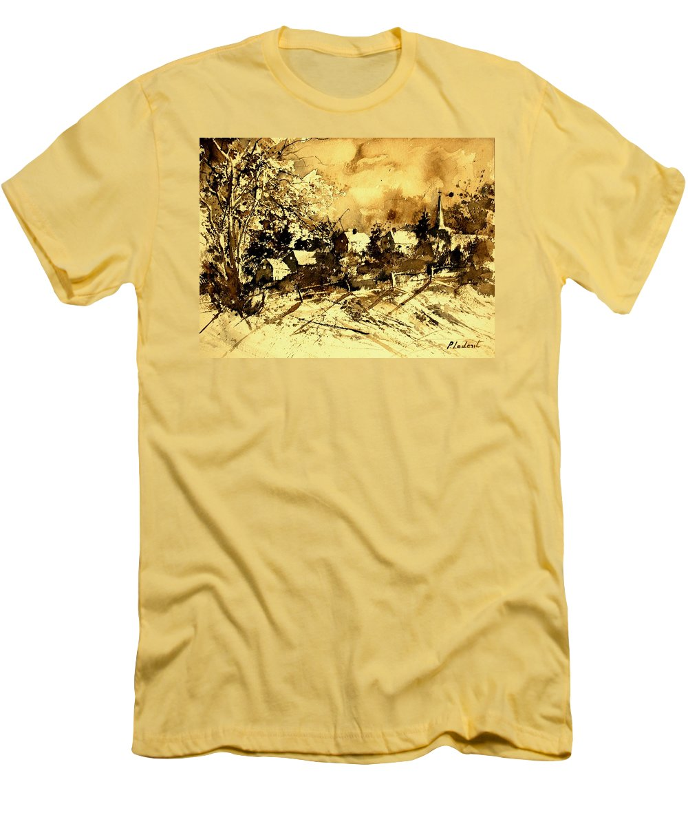 Men's T-Shirt (Athletic Fit) featuring the painting Watercolor 01 by Pol Ledent