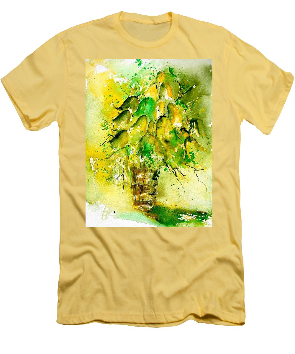 Flowers Men's T-Shirt (Athletic Fit) featuring the painting Watercolor 90801 by Pol Ledent