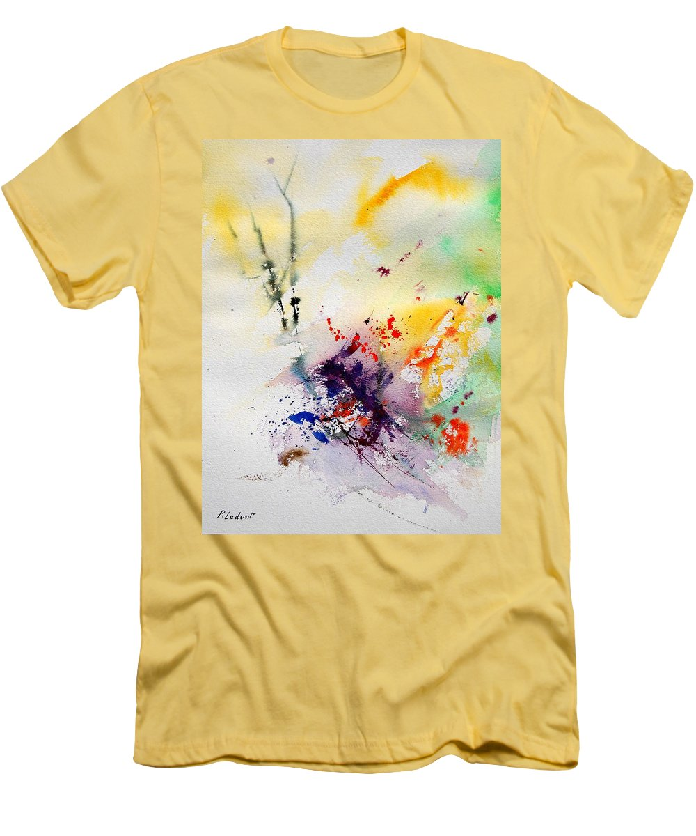 Abstract Men's T-Shirt (Athletic Fit) featuring the painting Watercolor 908090 by Pol Ledent