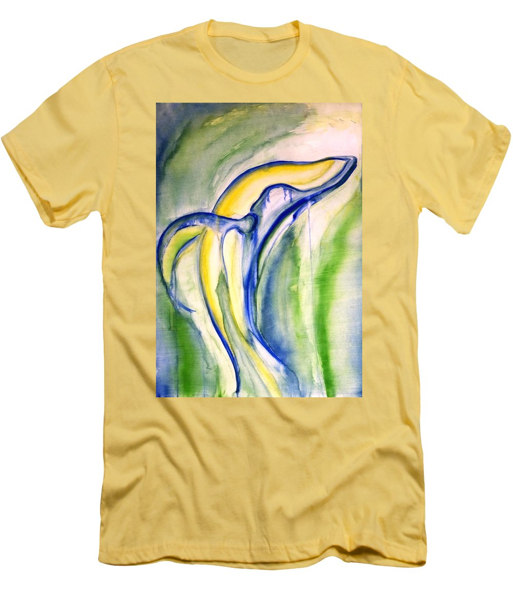 Watercolor Men's T-Shirt (Athletic Fit) featuring the painting Whale by Sheridan Furrer