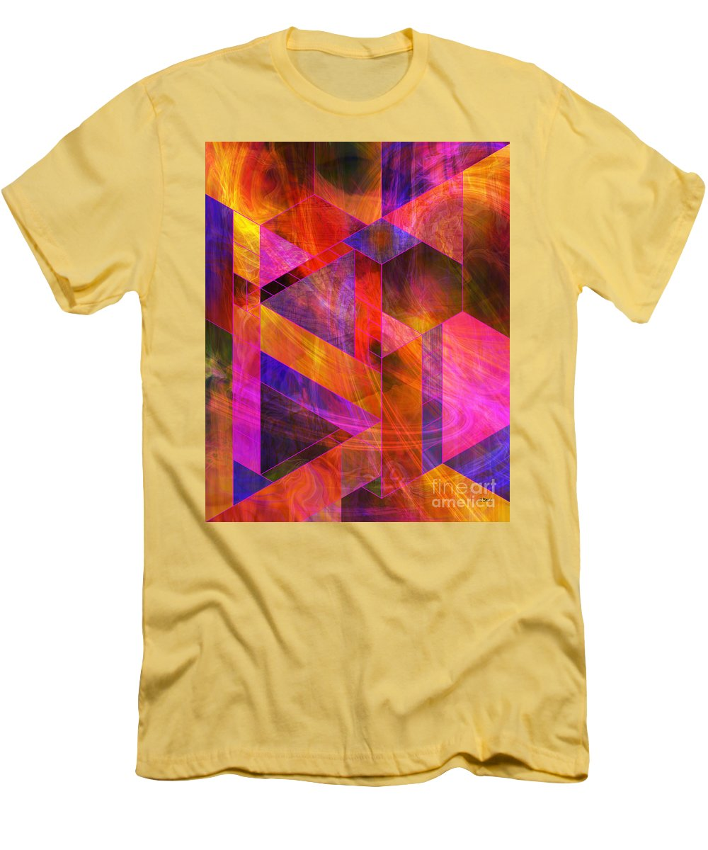 Wild Fire Men's T-Shirt (Athletic Fit) featuring the digital art Wild Fire by John Beck