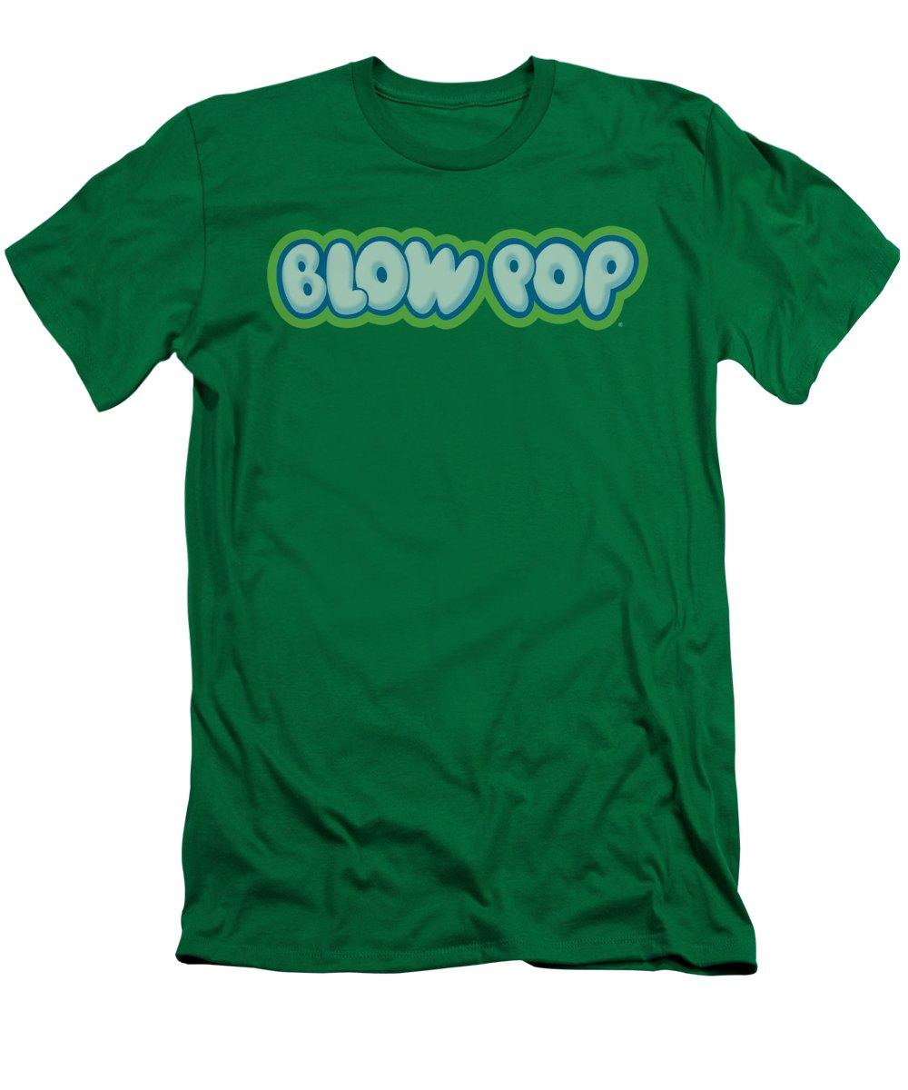 Tootsie Roll T-Shirt featuring the digital art Tootsie Roll - Blow Pop Logo by Brand A