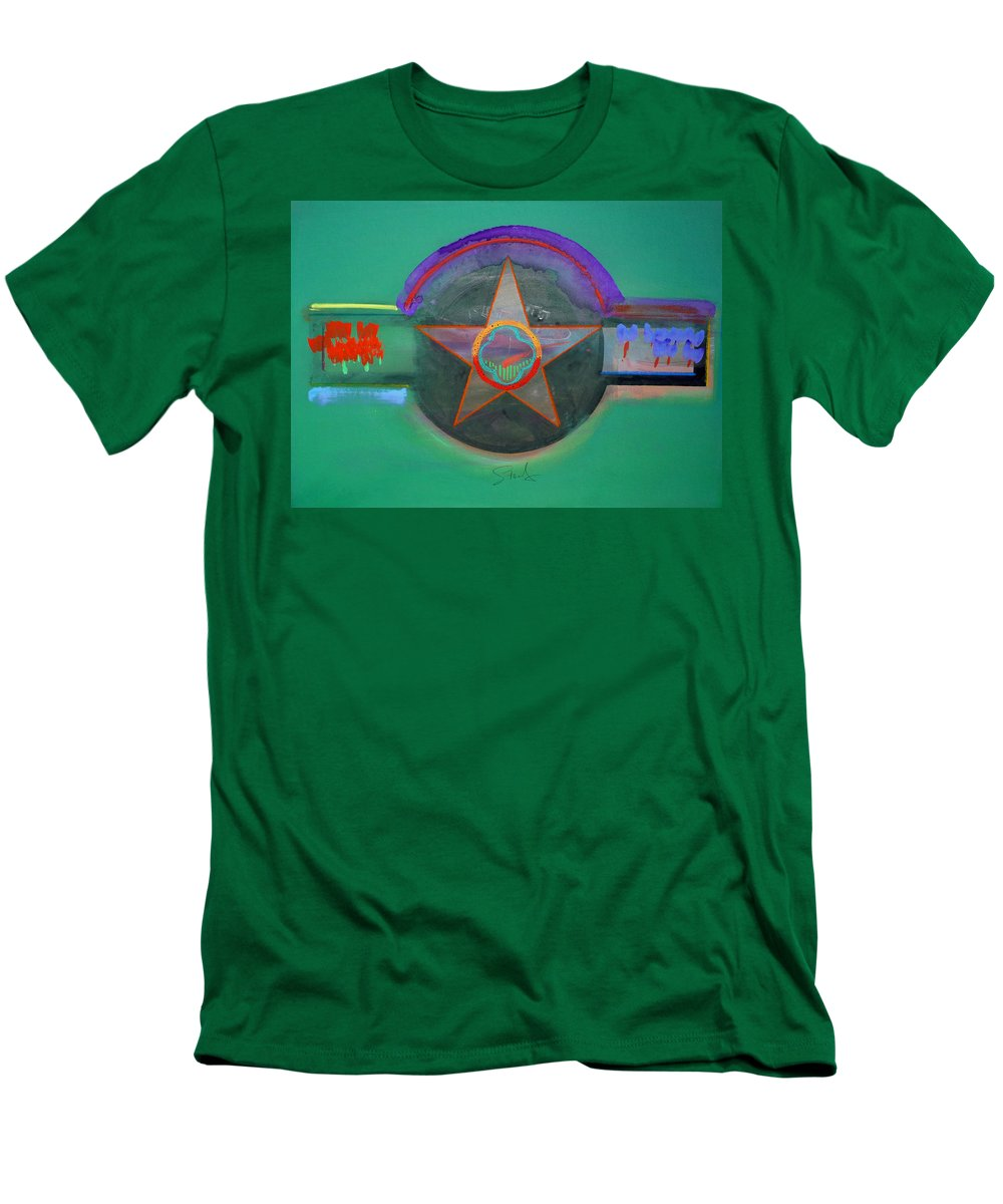 Star Men's T-Shirt (Athletic Fit) featuring the painting Arlington Green by Charles Stuart