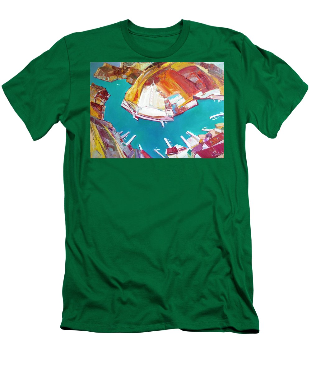 Ignatenko Men's T-Shirt (Athletic Fit) featuring the painting Balaklaw Bay by Sergey Ignatenko