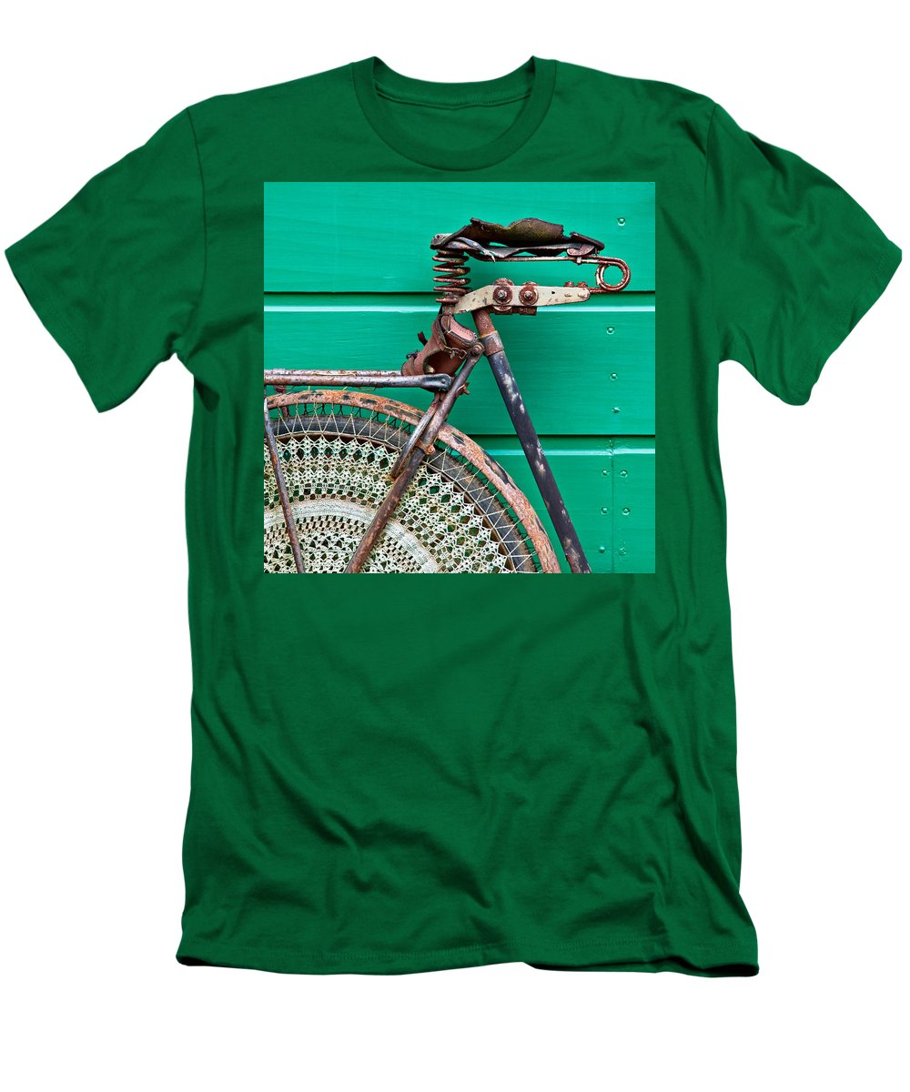 Bike Men's T-Shirt (Athletic Fit) featuring the photograph Better Days by Dave Bowman