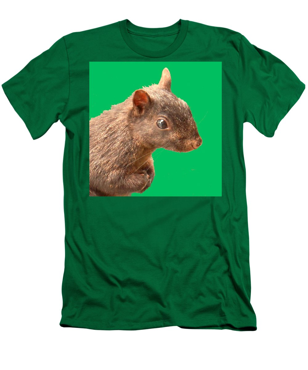 Squirrel Men's T-Shirt (Athletic Fit) featuring the photograph Definately Bright Eyed by Ian MacDonald