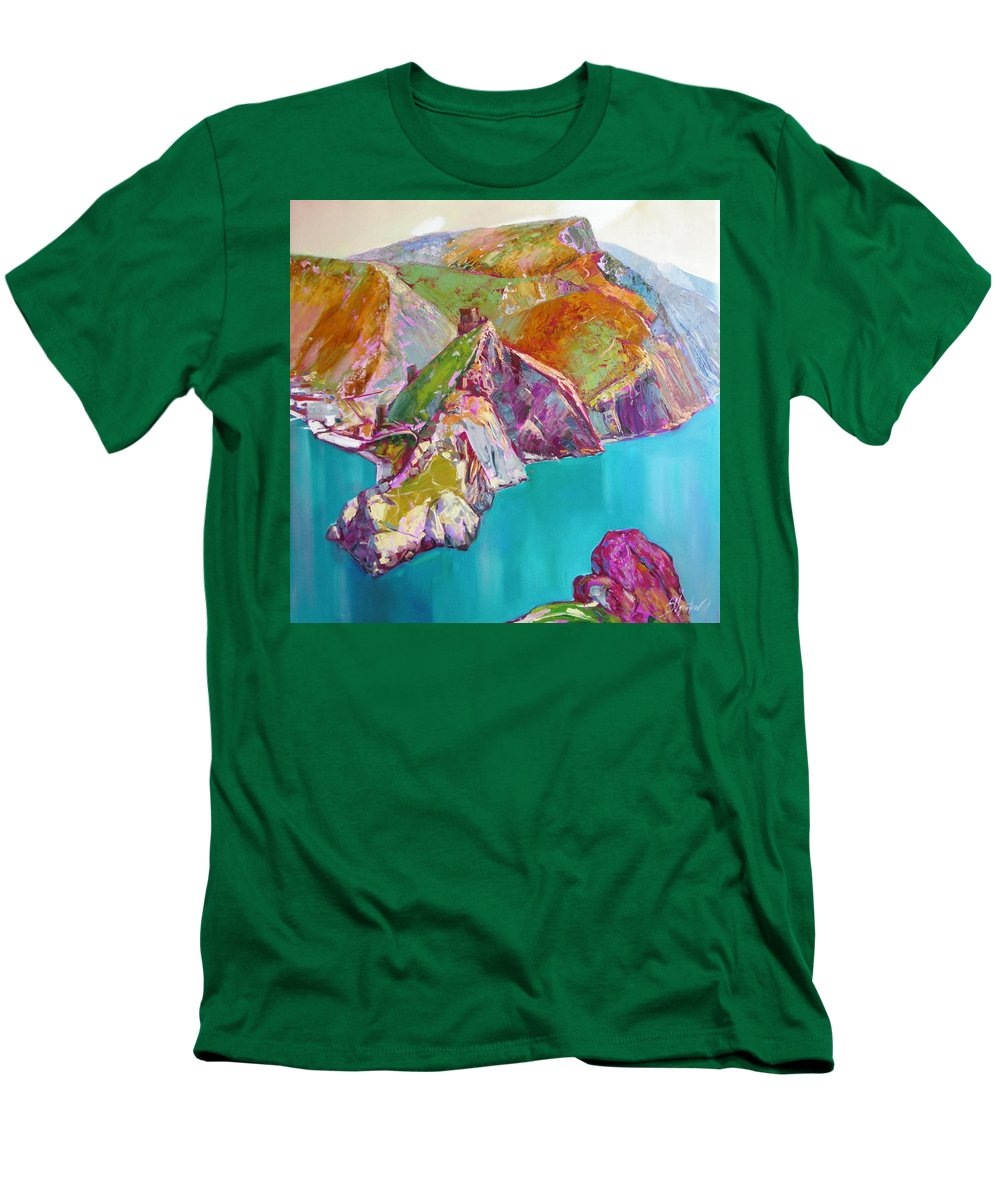 Ignatenko Men's T-Shirt (Athletic Fit) featuring the painting Entry To Balaklaw by Sergey Ignatenko