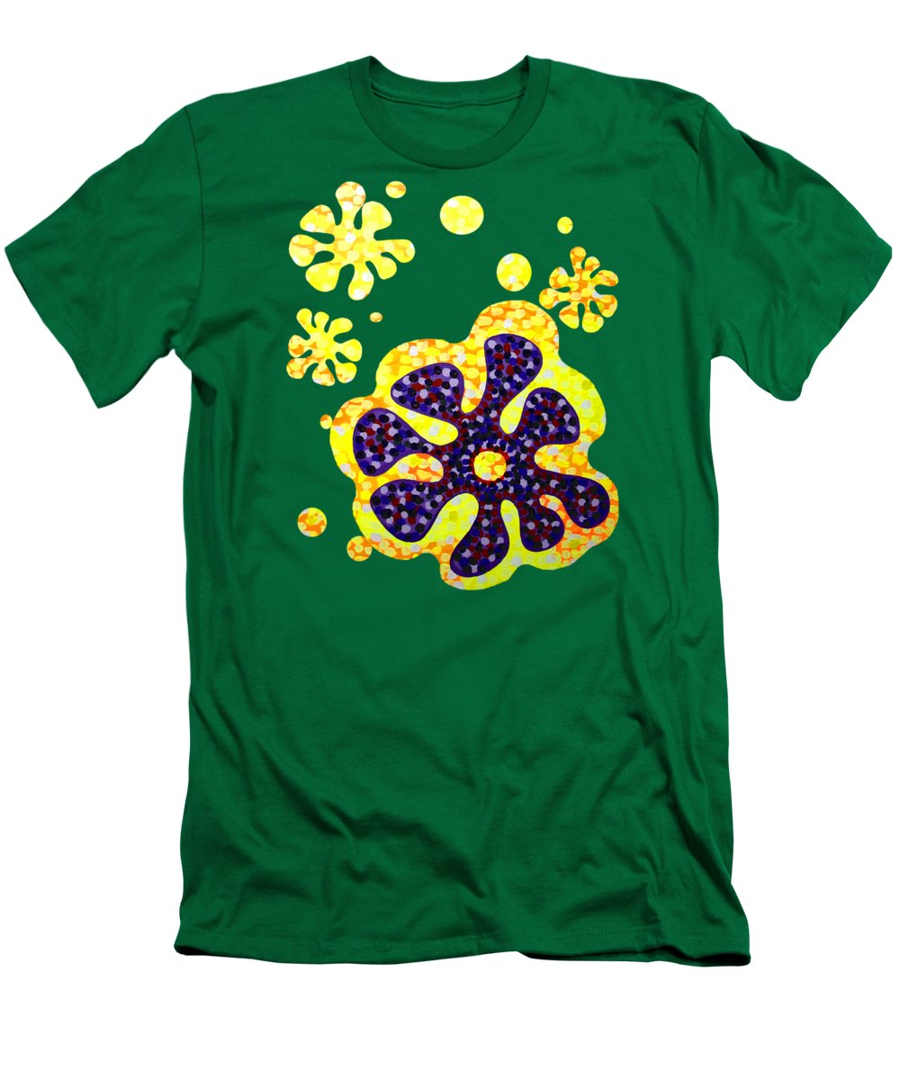 Acrylic Men's T-Shirt (Athletic Fit) featuring the painting Flower For Rafa by Alan Hogan