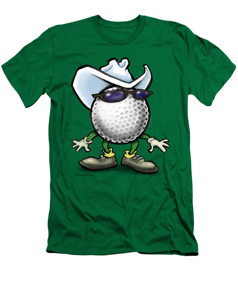 Golf Men's T-Shirt (Athletic Fit) featuring the digital art Golf Cowboy by Kevin Middleton