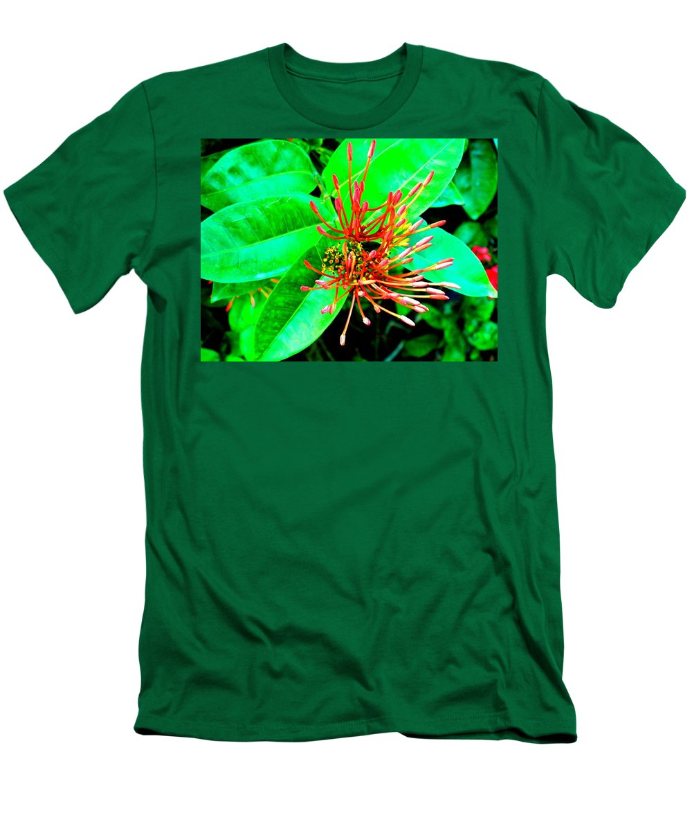 Flower Men's T-Shirt (Athletic Fit) featuring the photograph In My Garden by Ian MacDonald