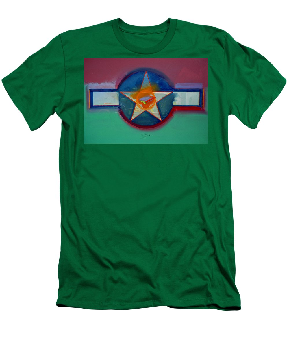 Star Men's T-Shirt (Athletic Fit) featuring the painting Landscape In The Balance by Charles Stuart
