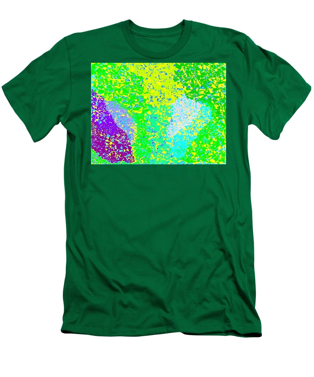 Abstract Men's T-Shirt (Athletic Fit) featuring the digital art Lilac Lane by Will Borden