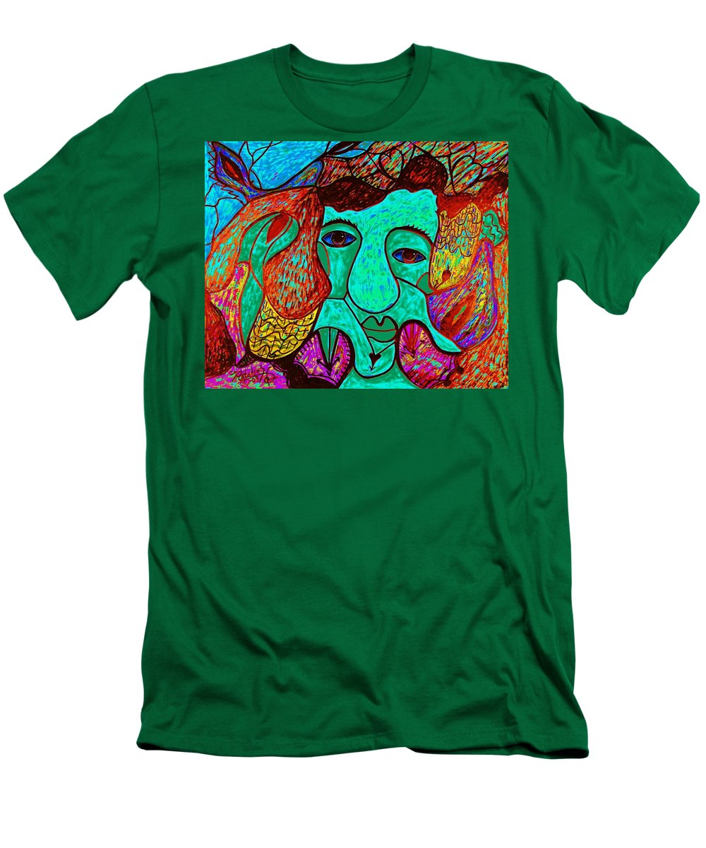 Man Men's T-Shirt (Athletic Fit) featuring the painting Looking For Love by Natalie Holland