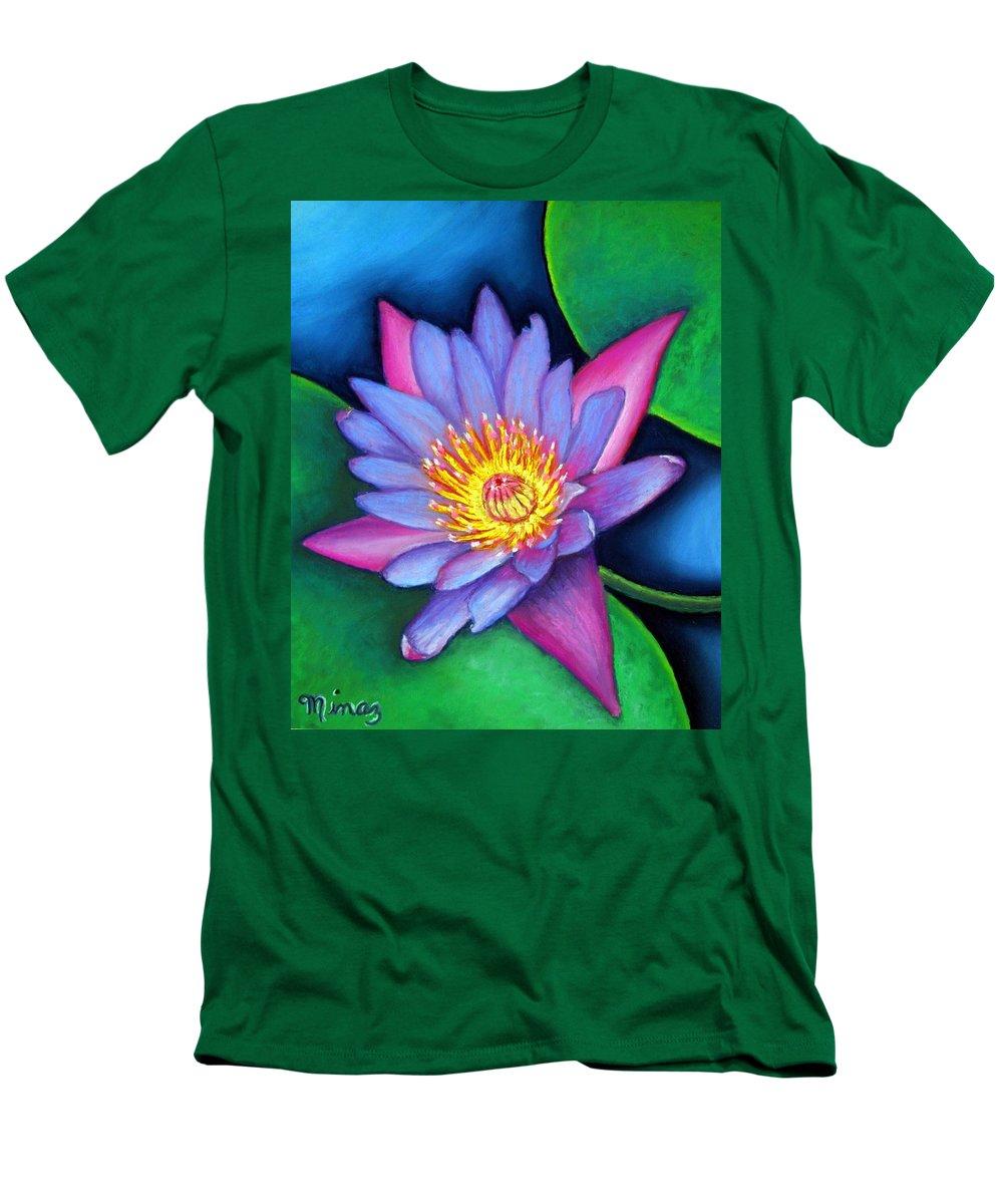 Flower Men's T-Shirt (Athletic Fit) featuring the painting Lotus Divine by Minaz Jantz