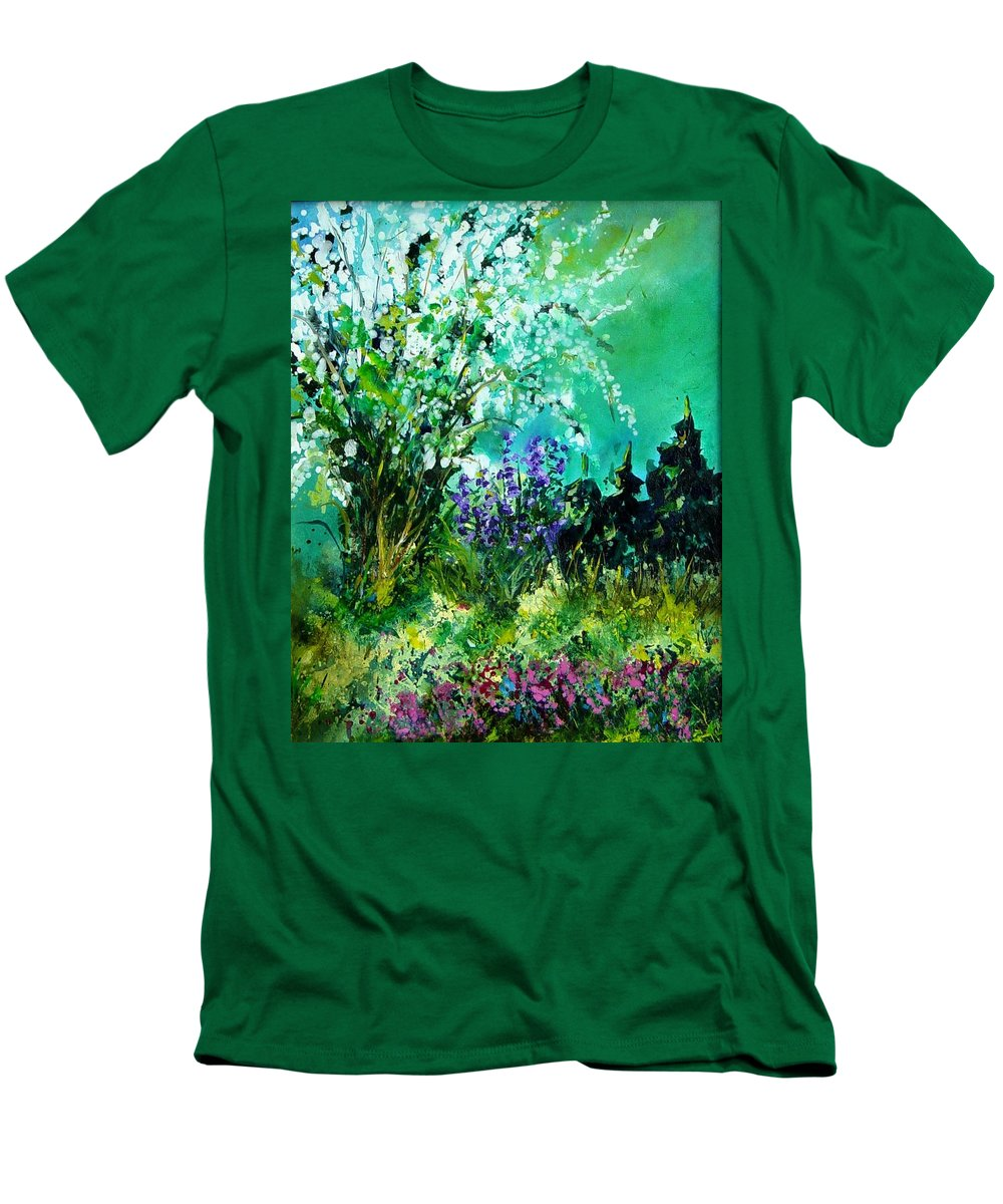 Tree Men's T-Shirt (Athletic Fit) featuring the painting Seringa by Pol Ledent