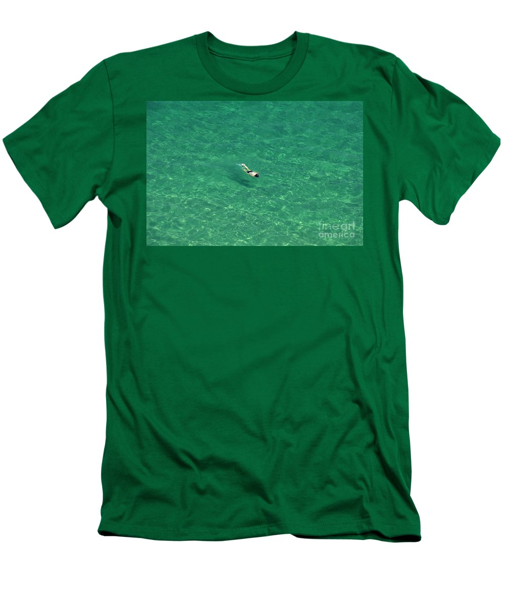 Snorkeling Men's T-Shirt (Athletic Fit) featuring the photograph Snorkeling by David Lee Thompson