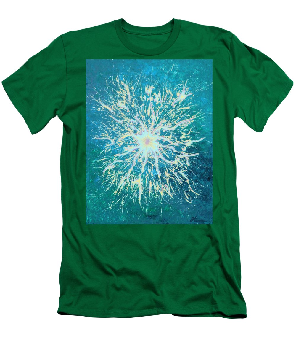 Acrylic Men's T-Shirt (Athletic Fit) featuring the painting Static by Todd Hoover