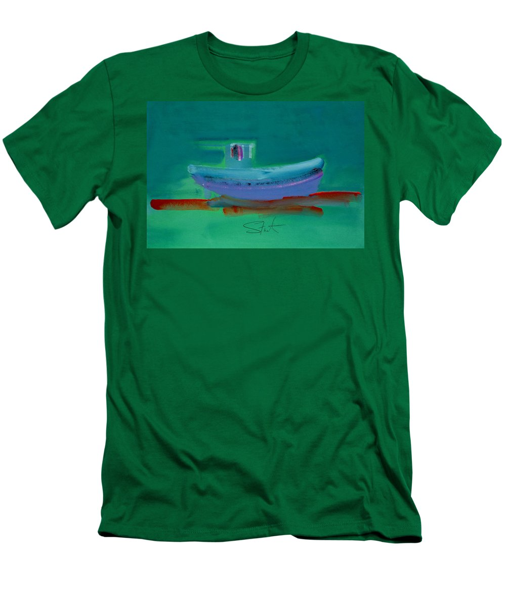 Deep Men's T-Shirt (Athletic Fit) featuring the painting Stormbringer by Charles Stuart