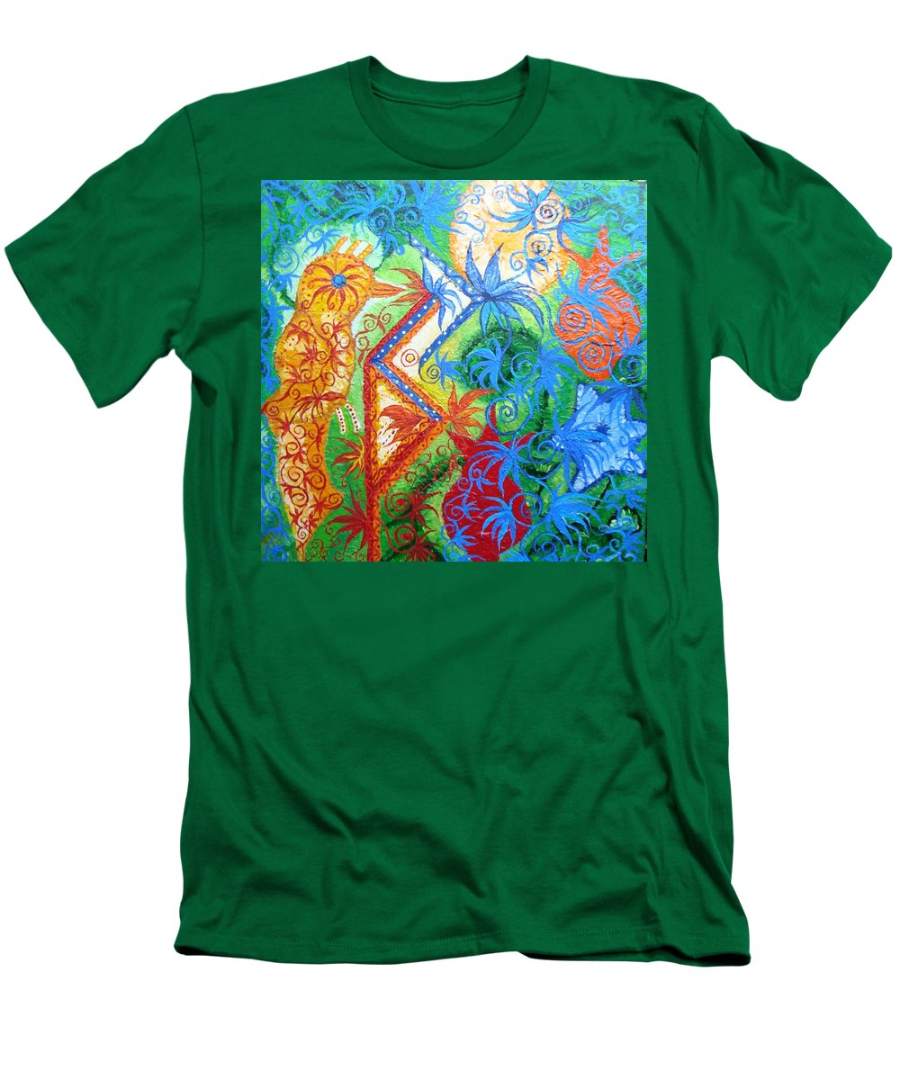 Runes Men's T-Shirt (Athletic Fit) featuring the painting Success From Project by Joanna Pilatowicz