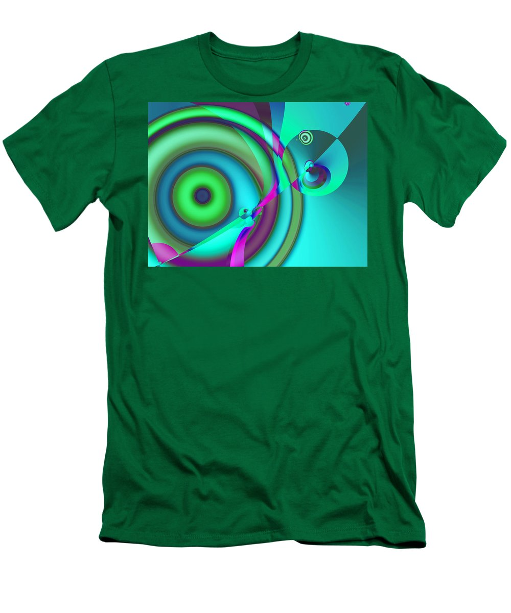 Abstract Men's T-Shirt (Athletic Fit) featuring the digital art Time Warp by Frederic Durville