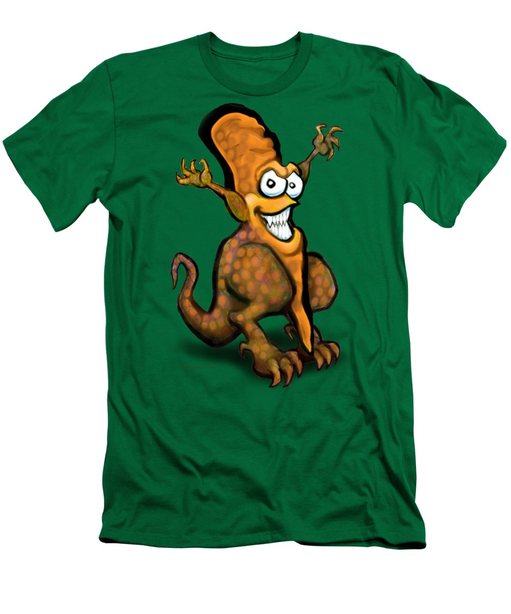 Veggie Men's T-Shirt (Athletic Fit) featuring the painting Veggiesaurus by Kevin Middleton