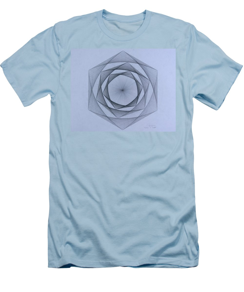 Jason Padgett Men's T-Shirt (Athletic Fit) featuring the drawing  Energy Spiral by Jason Padgett