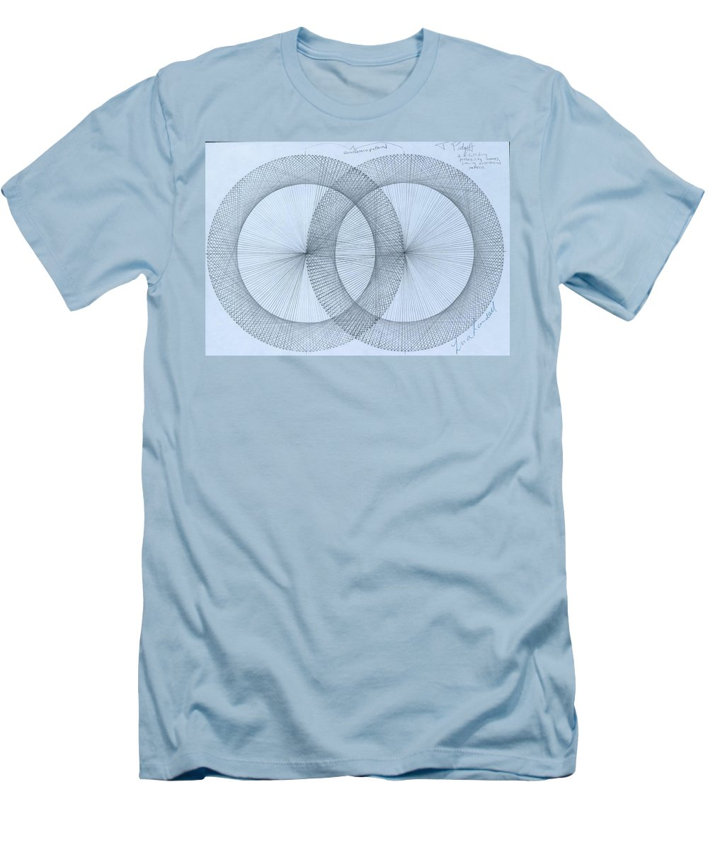 Fractal Men's T-Shirt (Athletic Fit) featuring the drawing Magnetism by Jason Padgett