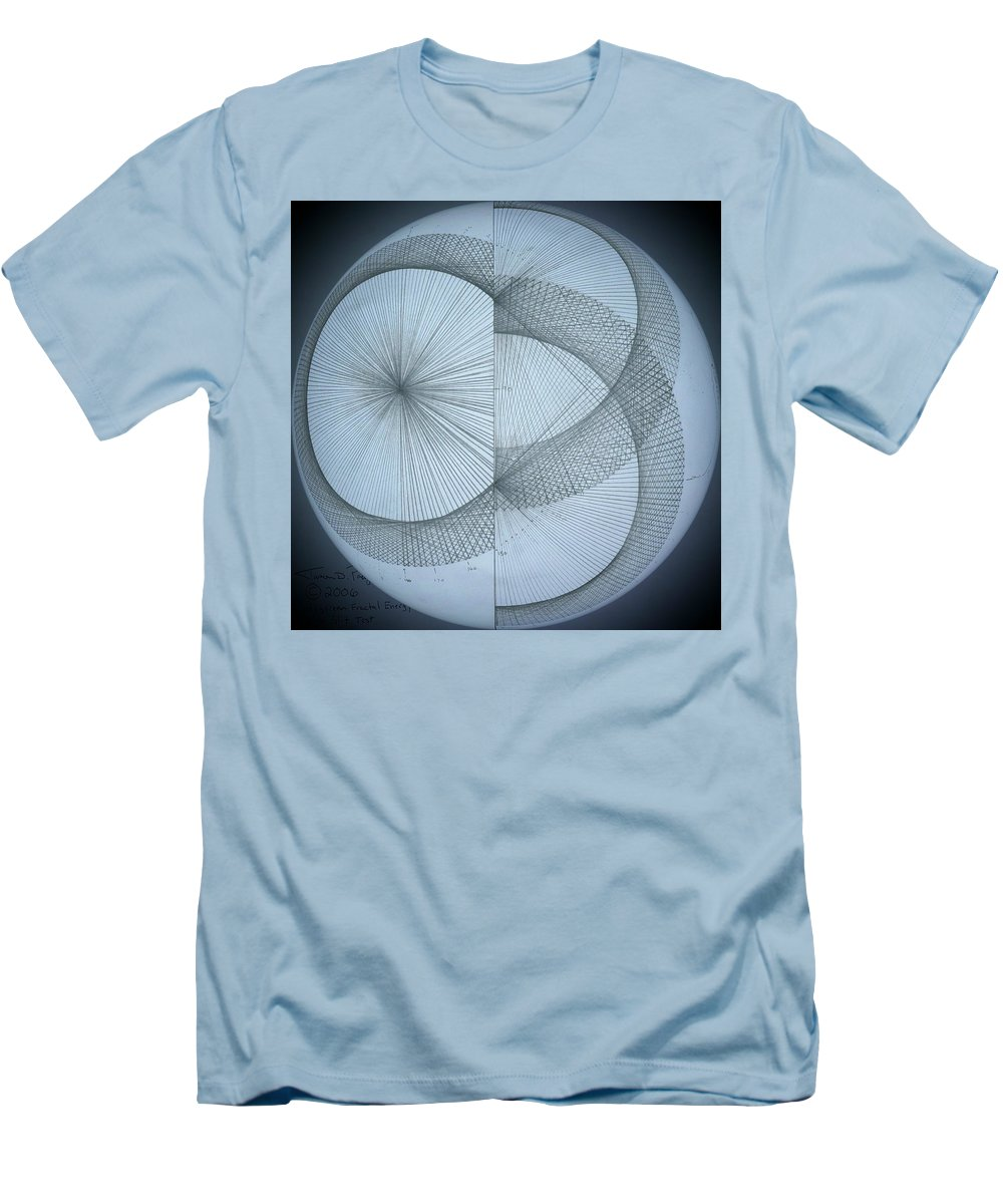 Photon Men's T-Shirt (Athletic Fit) featuring the drawing Photon Double Slit Test by Jason Padgett