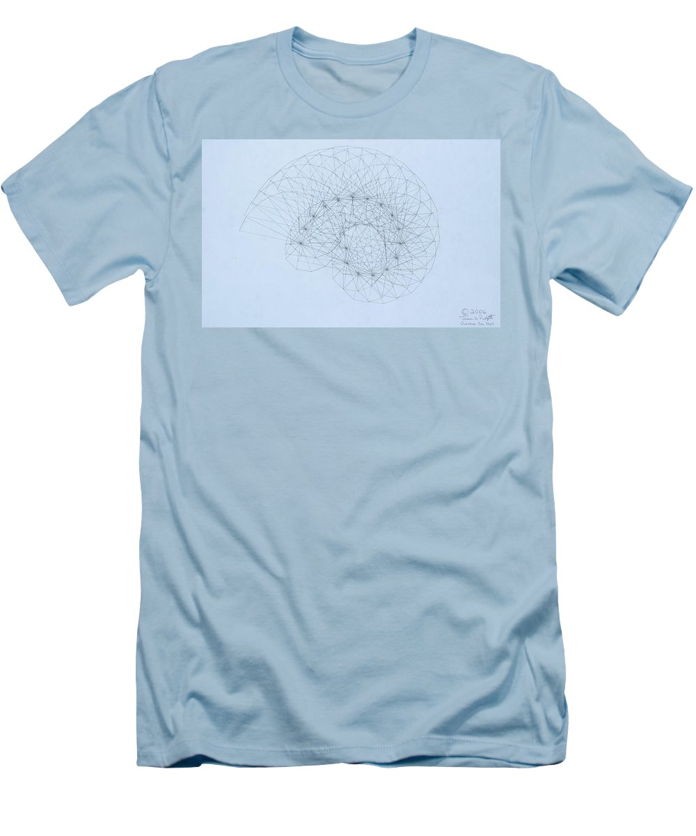 Jason Padgett Men's T-Shirt (Athletic Fit) featuring the drawing Quantum Nautilus by Jason Padgett